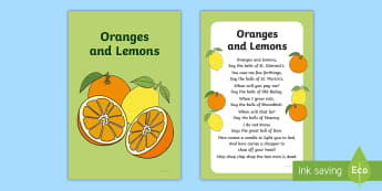 Oranges and Lemons Nursery Rhyme IKEA Tolsby Frame - baby signing, baby sign language, communicate with baby, pre verbal baby, tiny talk, sing and sign,