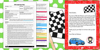Kitchen Roll Tube Racing EYFS Adult Input Plan and Resource Pack