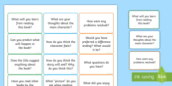 Reading Book Question Prompts Labels - questioning, reading  prompt, prompt template, reading dice, ks2 reading, reading questions, ks2, re