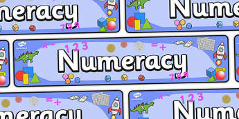 Numeracy Display Banner - numeracy, maths, display, banner, display banner, display header, themed banner, themed header, header, numbers header