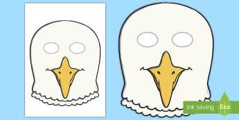 Seagull Role-Play Mask - gull, seaside, bird, beach, seaside holidays,