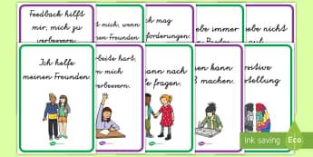 Positive Einstellung Póster DIN A4  - Besinnung, positiv, gutes verhalten, verhalten im klassenraum, lieb sein, positiv sein,German