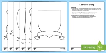 Reading Comprehension Character's Family Shield Activity Sheets - NZ Literacy Resources, reading comprehension, character study, literacy, reading tasks, generic read