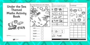 Under the Sea Themed KS1 Maths Activity Book - numeracy, booklet