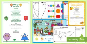 2D Shape Quiet Time Box - nap time, toddler activities, sibling activities, quiet time, table activities, activity bank, activ