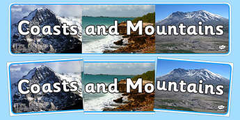 Coasts and Mountains Photo Display Banner - display banner, coasts and mountains, display, banner, coasts, mountains