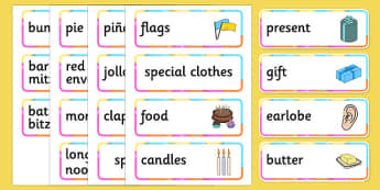 Birthdays Around the World Word Cards - birthdays, around the world, word, cards, word cards