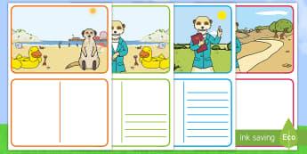 Meerkat-Themed Postcard - meerkat mail, holidays, summer, desert, mail, meerkat, meerkats, safari, post