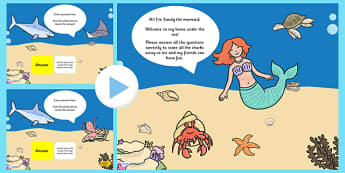Under The Sea Themed Adaptable Starter And Plenary PowerPoint - under the sea, powerpoint, starter powerpoint, plenary powerpoint, themed powerpoint