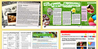 KS3 Easter Spring Mini Writing Project - secondary, key stage 3