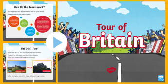 Whole School Tour of Britain  PowerPoint - Bicycle, Race, Competitor, Powerpoint, Cyclist