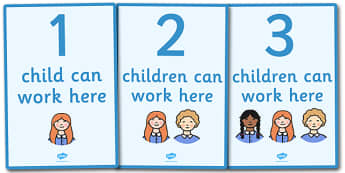 How Many Can Work Here Display Posters - Display, poster, classroom area display, how many can, child self management