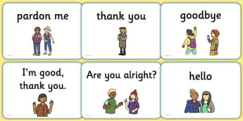 Greetings A5 Flashcards English - english, greetings flashcards, flash cards, greetings