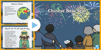 All About Chinese New Year PowerPoint - chinese new year, info