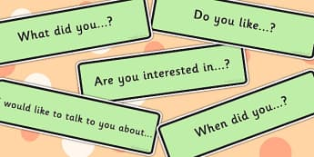 Conversation Starters - communication, making friends, visual aid