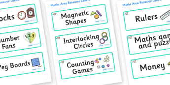 Raccoon Themed Editable Maths Area Resource Labels - Themed maths resource labels, maths area resources, Label template, Resource Label, Name Labels, Editable Labels, Drawer Labels, KS1 Labels, Foundation Labels, Foundation Stage Labels, Teaching Lab
