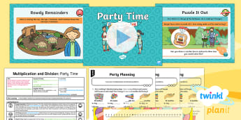 PlanIt Maths Y2 Multiplication and Division Lesson Pack Exploring Remainders (2) - Multiplication and Division, remainder, leftover, context, problem solving, word problems, reasoning