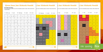 Sjinese Nuwe Jaar Gemengde Bewerkings Aktiwiteit bladsy - Januarie, tradisies, fees, vier, wiskunde, gesyferdheid, oplos