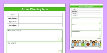 School Council Project Action Plan Template - school council, project, action plan, template