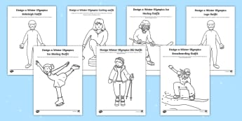 KS1 Design the Winter Olympics Sport Outfits Activity Pack - Olympic Games, Sportswear, Winter sports, Sport Suit, Events