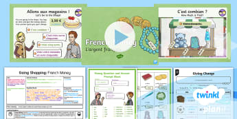 French: Going Shopping: French Money Year 4 Lesson Pack 5 - french, languages, euro, currency, money