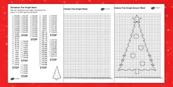 Christmas Tree Graph Worksheet - christmas, graph, numeracy, xmas