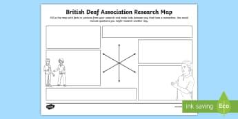 British Deaf Association (BDA) Research Map - sign language week, deaf awareness, deaf community, deaf culture, deaf world, deaf people, pride in