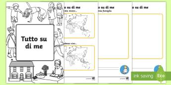 Tutto su di Me Opuscolo - tutto, su, di, me, opuscolo, informazioni, ritorno, a scuola, italiano, italian, materiale, scolasti
