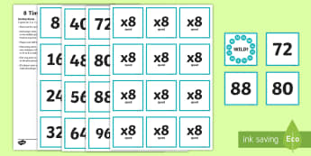 8 Times Table Speed Game Activity Activity - 8 Times Table Speed Game Activity - 4 times table, times table, speed game, game, activity, Timw, ma