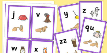 Phase 3 Sound Flash Cards with British Sign Language - phase 3