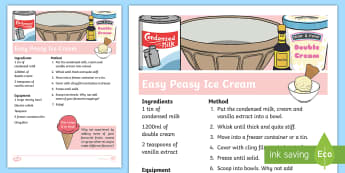Easy Peasy Ice Cream Recipe - NI Summer, easy peasy ice cream, ice cream flavours, summer recipes, summer activities
