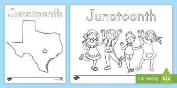 Juneteenth Coloring Sheets Emancipation Emancipation Proclamation