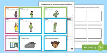 Pack de recursos: Dibuja un cómic para reflexionar y prevenir el bulling - Bulling, acoso, acoso escolar, molestar, abuso, abusón, matón, problemas de convivencia, convivenc