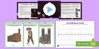 Lord Shaftesbury Information and Activity Pack - CfE, Victorians, People in Past Society, Philanthropy, Social Reform, Factory Act, Ragged Schools, C