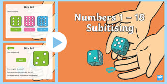 Numbers 1 – 18 Subitising Maths Activity PowerPoint - subitise, recognise numbers, mental groupings,