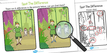 Peter Pan Spot the Difference Activity - spot, difference, peter