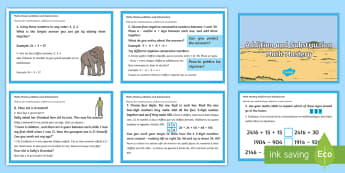 Maths Mastery Addition and Subtraction Challenge Cards - English/French  - Maths Mastery Year 4 Addition and Subtraction Challenge Cards - maths mastery, maths, mathematics, m