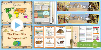 Ancient Egypt Resource Pack - Egyptian, pharaohs, River Nile, Pyramids, Hieroglyphics,Scottish