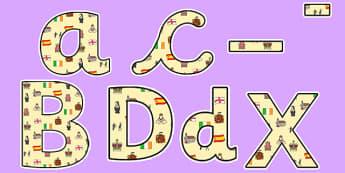 Elizabeth I Themed Display Lettering - elizabeth I, elizabeth 1st, display lettering, themed lettering, classroom lettering, lettering, display letters