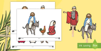Easter Story Stick Puppets - easter, puppets, role play, religion