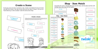 French: Going Shopping Year 4 Home Learning Tasks - french, languages, grammar, shopping, food, clothes