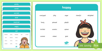 Emotions and Feeling Vocabulary Word Mats - pshe, seal, emotions, feelings, emotions vocabulary, feelings vocabulary