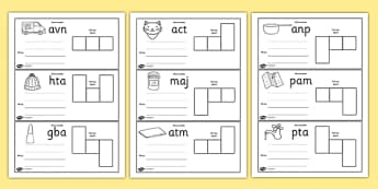 CVC Spelling Cards Pack - CVC, spelling, cards, pack, words, literacy, phonics, reading