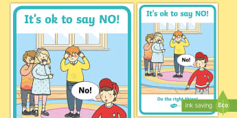 It's OK to Say NO A4 Display Poster - peer pressure, relationships, young people, emotions, feelings,