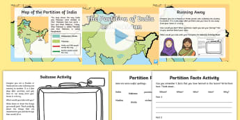 Partition of India and Pakistan KS1 PowerPoint Pack - RE, religion, Partition, fighting, violence, empire, Refugee, India, Pakistan