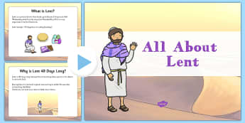 EYFS All About Lent PowerPoint - EYFS, Early Years, Easter, Christianity