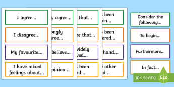 Informal/Formal Debate Language Word Cards - English, New, Language, Curriculum, Oral, Talking, Conversation