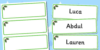 Holly Themed Editable Drawer-Peg-Name Labels (Blank) - Themed Classroom Label Templates, Resource Labels, Name Labels, Editable Labels, Drawer Labels, Coat Peg Labels, Peg Label, KS1 Labels, Foundation Labels, Foundation Stage Labels, Teaching Labels