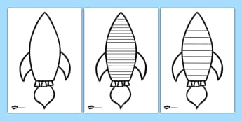 Space Rocket Writing Frame - space, rocket, alien, write, writing
