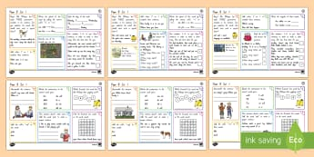 New Zealand Year 3 Spelling, Punctuation and Grammar Set 1 Activity Mats - NZ, Literacy, spelling, punctuation, grammar, SPaG, Year 3
